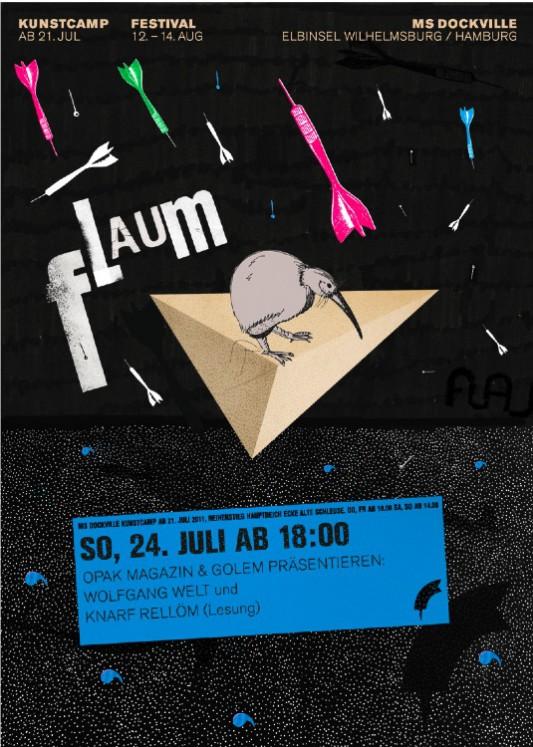 MS DOCKVILLE Kunstcamp 2011 - FLAUM. EIN FESTIVALRAUM.
